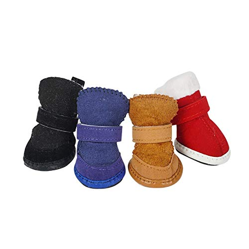 SHENGHUI rutschfeste Verschleißfeste Hundeschuhe Pet Schuhe Schneeschuhe Herbst und Winter Neue Teddy Cat Baumwolle Schuhe liefert Herstellern Auf Lager (Color : Blue, Size : Number 1)