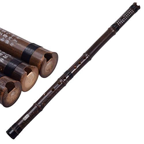 Flauta De Bambú Vertical China Xiao Instrumento De Música Cromática G/F Llave Dong Xiao Tubo Hecho A Mano Flauta 8 Agujeros Con Nudo Chino (Color : Black F)