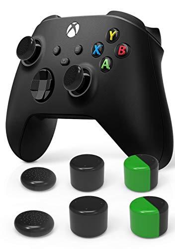 【6個】 Vikisda Xbox Series S/X アナログスティック カバー スティックカバー ロッカーキャップ 左/右 親指グリップキャップ シリコン素材 Xbox Series S/Xアナログキャップ XBoxシリーズ 対応 ジョイスティックカバー 簡単装着 滑り止め 耐久性