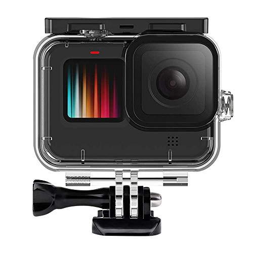TUTUO wasserdichte Gehäuse für GoPro Hero9 Black,Tauchen Case Schutzhülle 60m mit Quick Release Berg und Rändelschraube, Unterwassergehäuse für GoPro Hero 9 Black Action-Kamera