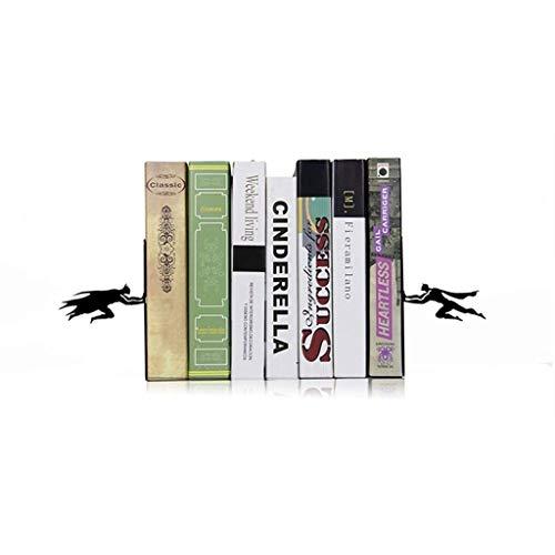 Book & Hero | Buchenden aus Metall-Superhelden | Einzigartige Buchstützen | Geschenke für Geeks | Geschenke für Buchliebhaber | Cooler Buchstopper (Farbe: Schwarz)
