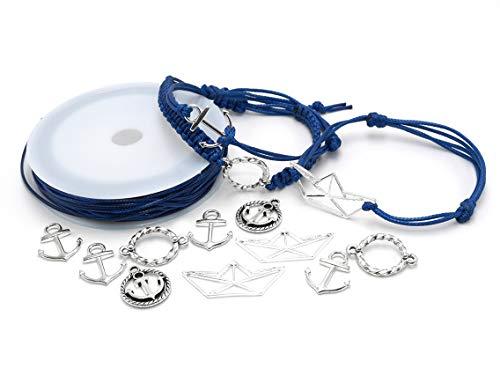 Vintageparts Set Mathilda zum Maritime Armbänder selber Machen Schmuck basteln Schmuckarmbänder Geschenk für Hochzeit Geburtstag Anker Boot Seil Maritime Freundschaftsarmbänder