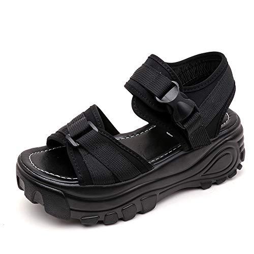 Sandalias de Mujer Plataforma Cuña Verano Tacón Altas 2019 PAOLIAN Zapatillas Deportivo Calzado Fiesta Elegantes Otoño Zapatos de Deportes Vestir Chica Escuela 35-39 EU