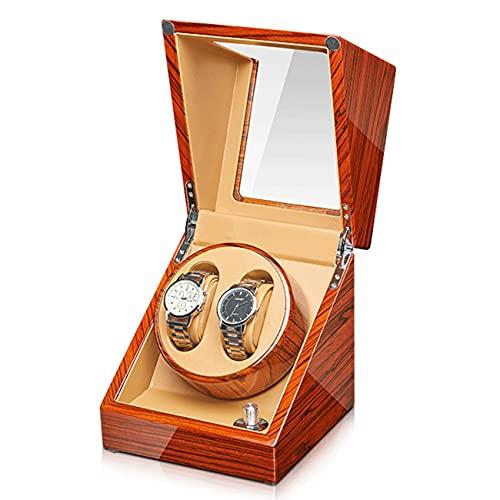ANTLSZH Reloj Winder para Relojes Automáticos Caja De Madera Maciza con Motores Mabuchi, Adaptador De Batería O Ca