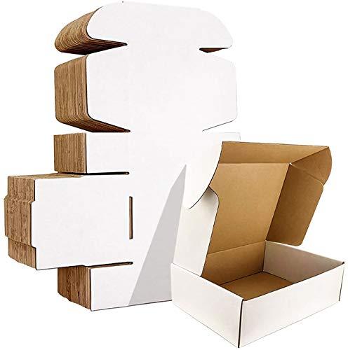 YI-LIGHT Caja de mensajería, Cajas de cartón, 9 x 6 x 2 Pulgadas Cajas de envío Juego de 100, Caja de envío Postal de cartón Corrugado Blanco, Cajas de Embalaje Grandes (Size : 9' x 6' x 2')