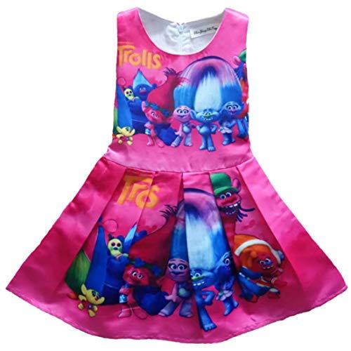 Trolls Poppy vestido de princesa para niñas, con estampado de amapola, Trolls World Tour