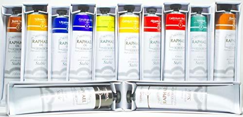 Raphael Oil Color Set - Bundle of 12 Tubes 200 ml