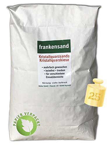 Müller GmbH 25 kg Filtersand Filterkies Kristallquarzsand Quarzsand für Sandfilteranlagen Papiersack (2,0-4,0 mm)