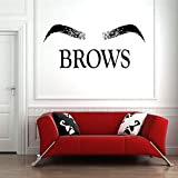 Eyebrows eyebrows makeup vinyl wall stickers interior decoration eyelashes -57x25cm