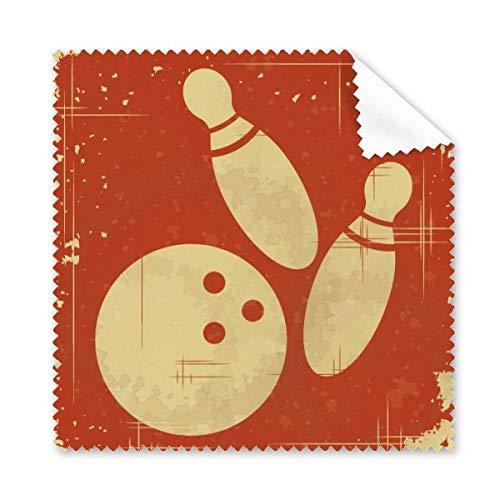 DIYthinker Bowling Sport Illustration Rot Muster Brillenputztuch-Reinigungstuch Telefon Schirm-Reinigungsmittel 5pcs Geschenk