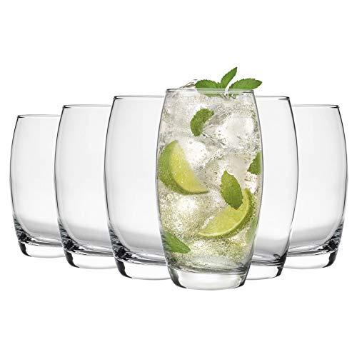 Argon Tableware Tondo - Gläser für Wasser/Saft/Longdrinks - 6 Gläser mit Geschenkverpackung - 510 ml