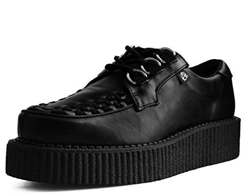T.U.K. Shoes Schwarz Vegan Leder 3 Ring Anarchic Creeper 42 EU