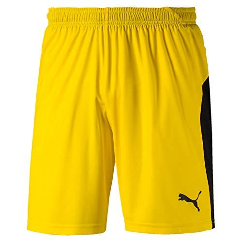 PUMA Liga Shorts, Pantaloncini Uomo, Giallo (Cyber Yellow Black), L