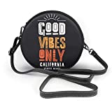 Bolso redondo mujer Shoulder Bags Women Round Bags Vector Illustration in The Form of The Message Crossbody Leather Circle Bag
