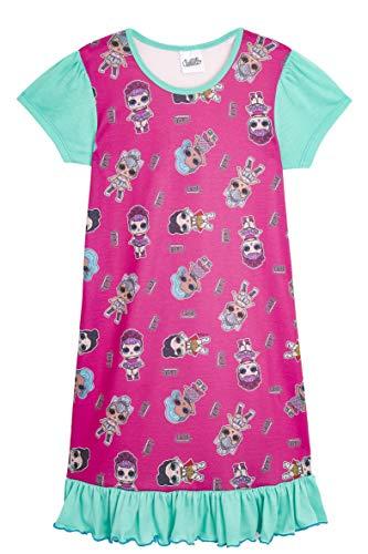 L.O.L. Surprise! Camicia da Notte Pigiama Maniche Corte Estivo Bambina Confetti Pop Abiti da Notte per Bambine (4/5 Anni, Tutta la Stampa)