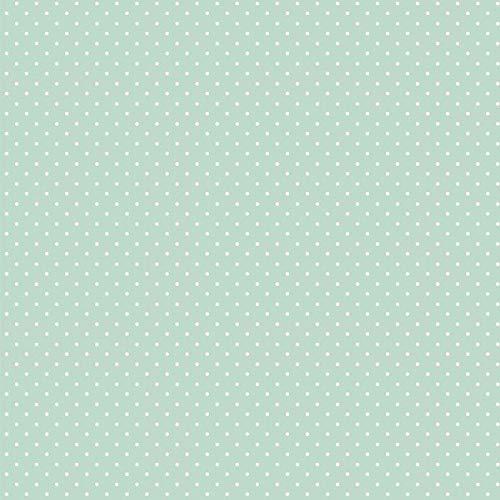 babrause® Baumwollstoff Pünktchen Mint Webware Meterware Popeline OEKOTEX 150cm breit - Ab 0,5 Meter