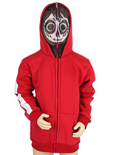 CoolChange Sudadera con Capucha de Coco con máscara de esquéleto/ Disfraz para niños de Miguel, Talla : 110