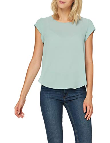 Only Onlvic S/s Solid Top Noos Wvn Camiseta, Blue Surf, 36 para Mujer