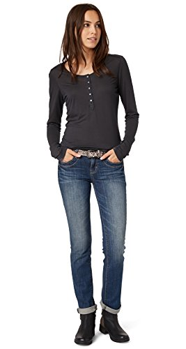 TOM TAILOR Damen Straight Leg Jeanshose Alexa/509, Gr. W30/L34, Blau (stone blue denim 1095)