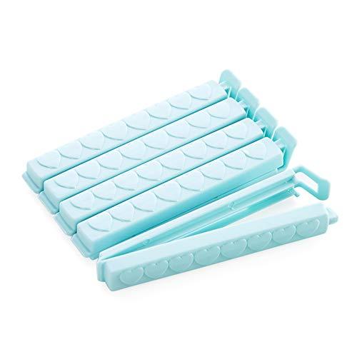 WAA Clip de sellado para bolsas de alimentos, resistente a la humedad y mantiene fresco, clip largo para aperitivos [5 unidades]