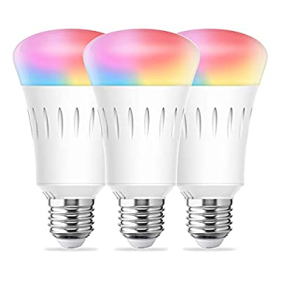 LOHAS Smart Lighting LED Light Bulbs A19 Dimmable Daylight Lights, Multicolored WiFi LED Smart Bulb, 60W Replace Compatible with Alexa, UL Listed