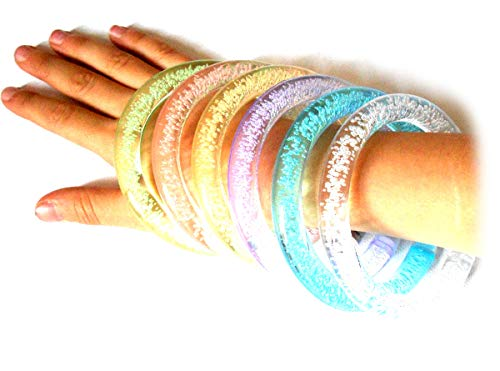 PRESKIN – LED Armreif, leuchtender Armring, bunt blinkendes Armband, blinky Schmuck für mehr Sicherheit für Rucksack, Fahrrad, Kind und Hund, universell für Party, Spaziergang, Schulweg oder Jogging