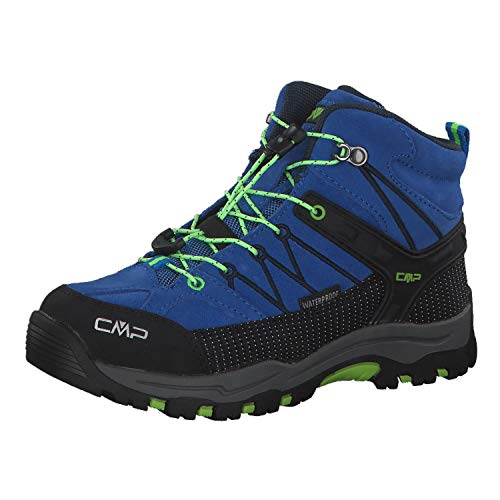 CMP Unisex-Kinder Kids Rigel Mid Shoe Wp Trekking- & Wanderstiefel, Türkis (Royal-Frog), 33 EU