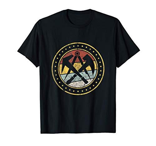 Retro Vintage Zunft Symbol Dachdecker Handwerk Geschenk T-Shirt