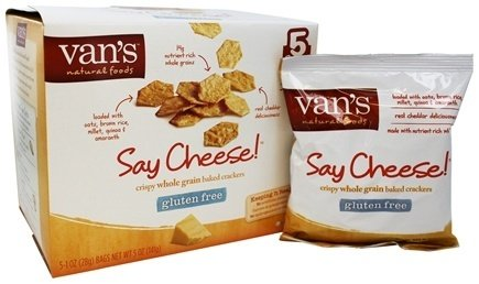 Van's Natural Foods - Gluten-Free Baked Crackers Say Cheese - 5 oz (pack of 2)
