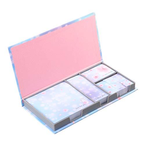 NUOLUX 付箋セット ポストイット フィルム ノート メモ 手帳 かわいい 桜 付箋紙 贈り物 学用品 4種類 480枚(ランダムな色とパターン)
