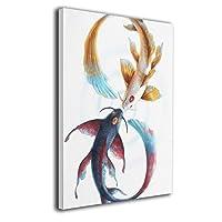 Skydoor J パネル ポスターフレーム 金魚 インテリア アートフレーム 額 モダン 壁掛けポスタ アート 壁アート 壁掛け絵画 装飾画 かべ飾り 50×40