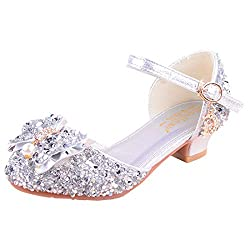 02 Silver Sparkle Mary Janes Low Heel Sandals
