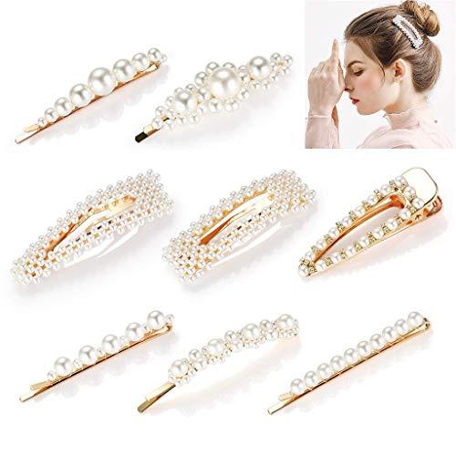 Gaddrt 12PC Haarklammer Haarspangen Dekoration Hochzeit Braut künstliche Perle Haar Clip