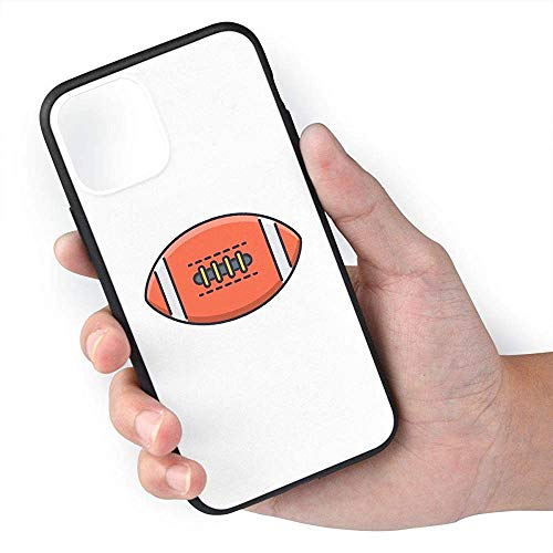 Gustave Tomlinson Rugbyball American Football Sport Rugby-Handyhüllen für iPhone 11 Pro Max Mobile Shell Rückseite Cover Cell TPU PC-Rahmen