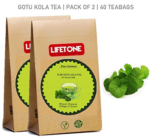 lifetone the tea for better life, GOTU KOLA Tee | 100% rein von Tropic | Geistiger Fokus | 40 Teebeutel