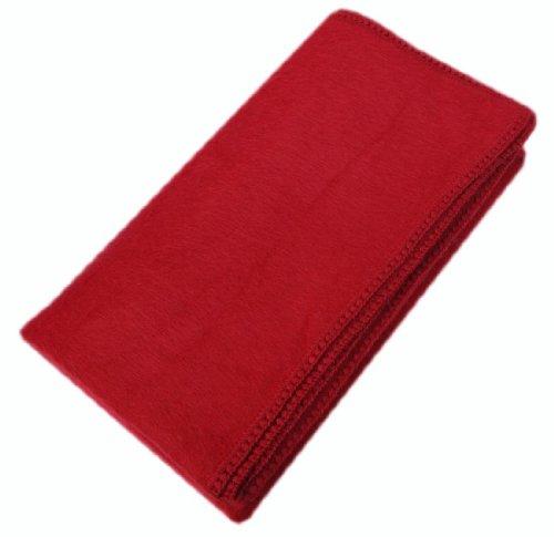 Lowest Price! Superfine Alpaca Wool Woven Blanket Throw Crochet Edge Queen Size (Red)
