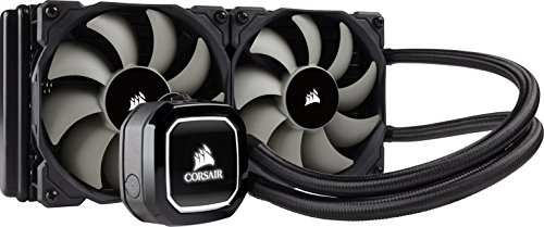 Corsair Hydro H100X Sistema di Raffreddamento a Liquido per CPU, Radiatore da 240 mm, Due Ventole PWM da 120 mm, Led Bianco