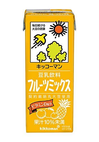 キッコーマン飲料 豆乳飲料 フルーツミックス 200ml×18本