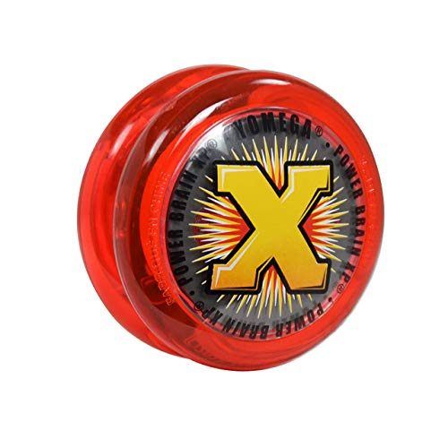 Yomega Power Brain XP yoyo - Includes Synchronized Clutch and a Smart Switch which enables Players to Choose Between auto-Return and Manual Styles of Play + Extra 2 Strings (red)