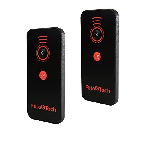 Foto&Tech 2PC IR Wireless Remote Control Compatible with Sony A7R IV III II,A7 III II,A9,A7 A7R A7S A6600 A6500 A6400 A6300 A6000 A55 A65 A77 A99 A900 A700 A580 A560 A550 A500 NEX-7 NEX-6 NEX5T NEX-5R