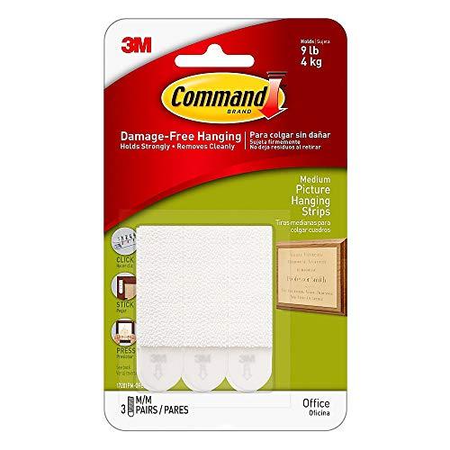 Command 17205 12/Petites Bandes de fixation Value Pack 17205 12pk Blanc