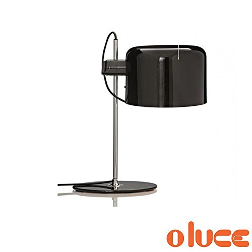 Oluce Coupe Lampe de table noire Design Joe Colombo 1967