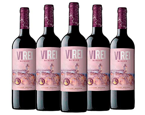 Vino Tinto VI REI MERLOT. Variedad de uva: Merlot. D.O. PLA I LLEVANT.