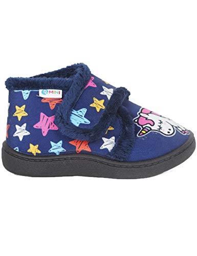Pantuflas Zapatillas de Estar en casa para Mujer Invierno Roal 12003 Unicornio - Color - Marino, Talla - 33
