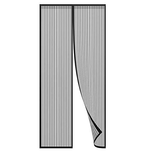 VIANA Magnetische Fliegennetz, super stark, schließt automatisch Fliegennetze, geeignet für Schiebe/Französisch/Glas/Tür, beige