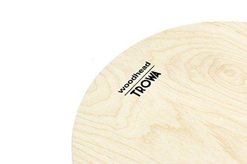 Woodhead, Drumfell Schlagzeugfell Drumhead aus Holz, 14 Zoll 36cm