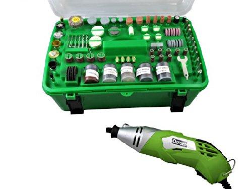 Miniutensile rotativo/Minitrapano 170W tipo Mini Drill con 218 accessori in valigia