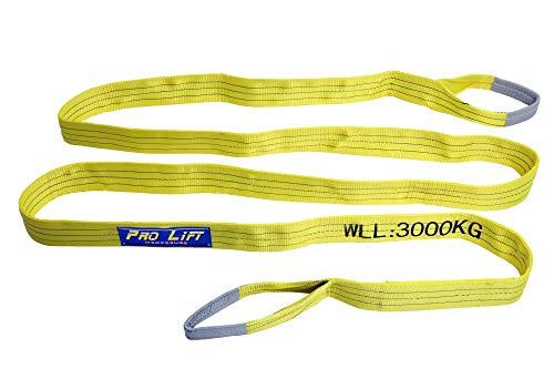 Pro-Lift-Werkzeuge 3 t Hebeband mit 2 Schlaufen Länge 6 m 2- lagig Hebegurt Rundschlinge Hebeschlinge Baumgurt Bergegurt Abschleppseil Schlupf
