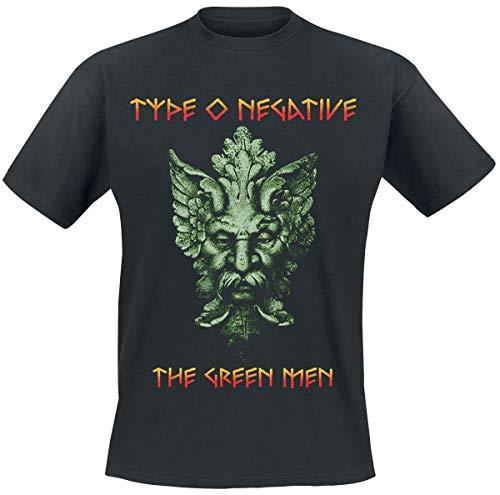 Type O Negative Green Men Hombre Camiseta Negro L, 100% algodón, Regular