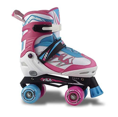 Fila Mädchen Joy Girl Roller Skate, Weiß/Pink/Hellblau, M/38